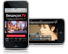 Streameo dveloppe l'application iPhone Besanon TV